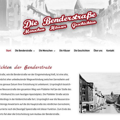 Geschichte Benderstraße